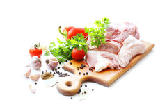 Raw meat and spices Stock Photo