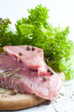 Raw meat with spices Royalty Free Stock Photography