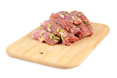 Raw meat,  with spices Royalty Free Stock Image
