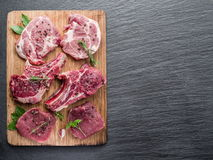 Raw meat with spices. Stock Image
