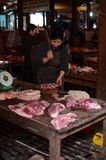 Raw meat stand in Veitnam Royalty Free Stock Images