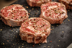 Raw meat steak Stock Photos