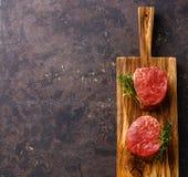 Raw meat Steak filet mignon Stock Photos