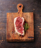 Raw meat Steak and seasoning stock images