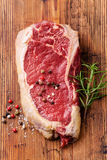 Raw meat Steak and seasoning Royalty Free Stock Photos