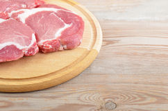 Raw meat steak Royalty Free Stock Images