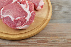 Raw meat steak Royalty Free Stock Photos