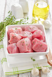 Raw meat. On a table Stock Photography