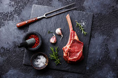 Free Raw Meat Veal Rib And Seasonings Stock Photography - 77403812