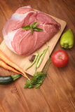 Raw meat and vegetable Stock Image