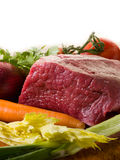 Raw meat with vegetables Stock Photos