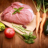 Raw meat and vegetables Stock Image