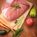 Raw meat and vegetables Royalty Free Stock Photography
