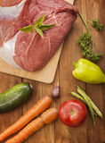 Raw meat and vegetables Royalty Free Stock Photo