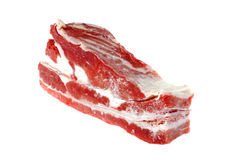 Raw meat on white Royalty Free Stock Photography
