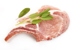 Raw meat on white background. Raw meat on a white background Royalty Free Stock Image