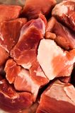 Raw meat on a white background. Raw red fresh meat on a white background Stock Images