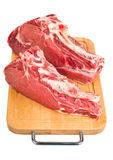 Raw meat on wood board Royalty Free Stock Photo