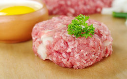 Raw Meatball with Parsley Royalty Free Stock Photo