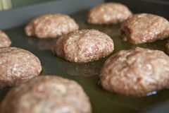 Raw meatballs Stock Photo