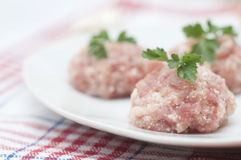 Raw meatballs Stock Photography