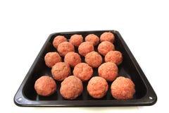 Raw meatballs Royalty Free Stock Photography