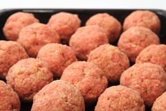 Raw meatballs Royalty Free Stock Image