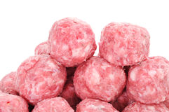 Raw meatballs Royalty Free Stock Images