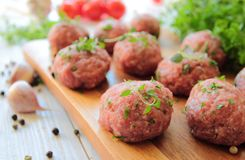 Raw meatballs Royalty Free Stock Photography