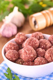 Raw Meatballs Stock Images