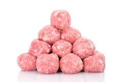 Raw meatballs Royalty Free Stock Photos