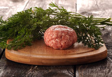 Raw meatloaf Stock Image