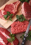 Raw meats Stock Photos