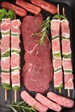Raw meats Stock Images