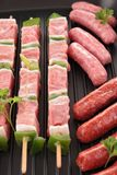 Raw meats Stock Image