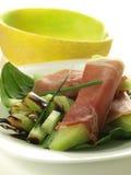 Raw melon with ham Royalty Free Stock Photo