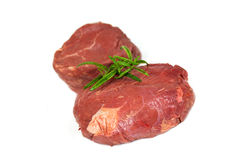 Raw mignon steak,isolated on white Royalty Free Stock Image