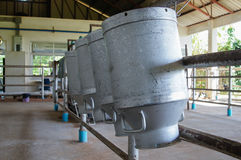 Raw milk tank. Transports Raw milk to the embodiment cooperatives royalty free stock image