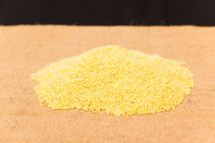 Raw millet Royalty Free Stock Image