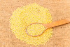 Raw millet Stock Photography