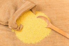 Raw millet Stock Photos
