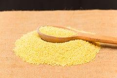 Raw millet Stock Photo