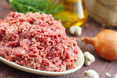 Raw minced beef in a bowl. Fresh raw minced beef in a bowl Stock Photo