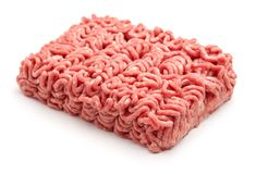 Raw minced beef meat. Isolated on white Royalty Free Stock Photos