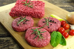Raw minced beef meat Royalty Free Stock Image