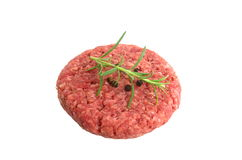 Raw minced beef meat. On white background Royalty Free Stock Image