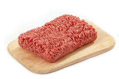 Raw minced meat. On cutting board Stock Images