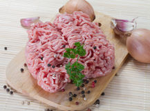 Raw minced meat. Ready for cooking Royalty Free Stock Images