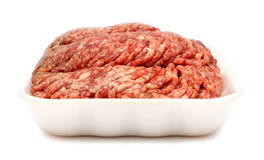 Raw minced meat. On white background Royalty Free Stock Image