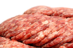 Raw minced meat close-up Stock Image